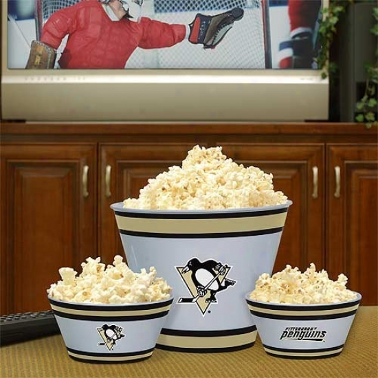 Pittsburgh Penguins Three-piece Melamine Serving Set