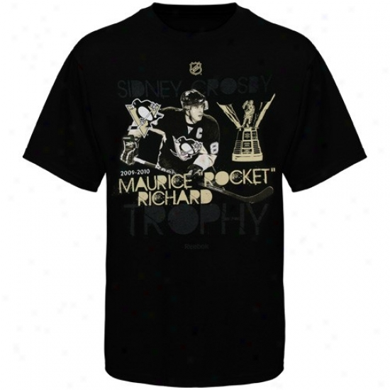 Pittsburgh Penguins Tshirt : Reebok Pittsburgh Penguins #8 Sidney Crosby Black 51 Goal Season Tshirt
