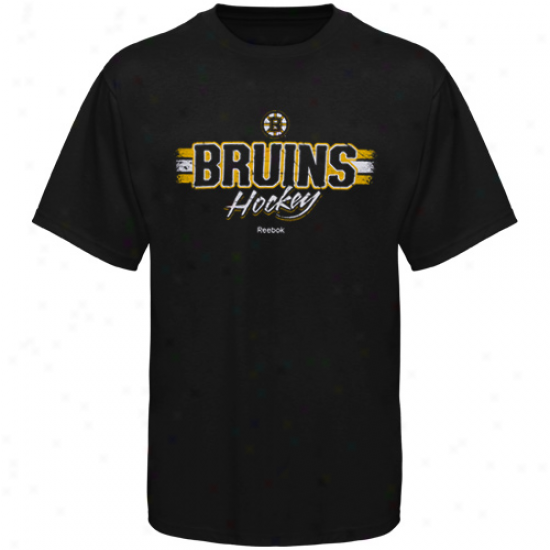 Reebok Boston Bruins Black Allegiance T-shirt