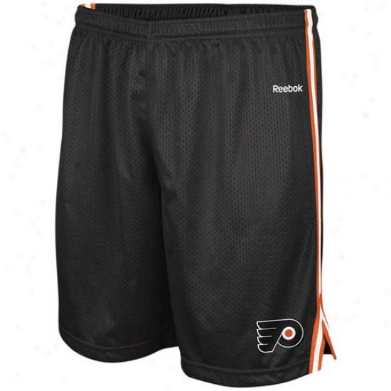Reebok Philadelphia Flyers Black Rookie Shorts