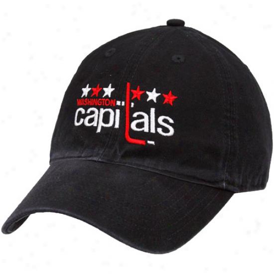 Reebok Washington Capitals Black 2011 Nhl Winter Classic Adjustable Hat