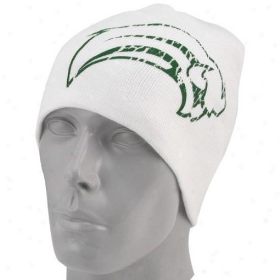 Sabres Cap : Reebok Sabres White St. Patrick's Day Cuffless Knit Beanie