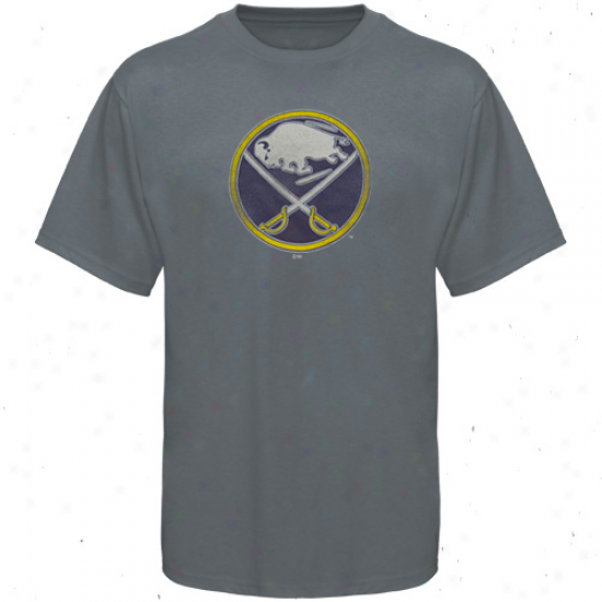 Sabres Shirts : Majestic Sabres Steel Blue Ice Classic Shirts