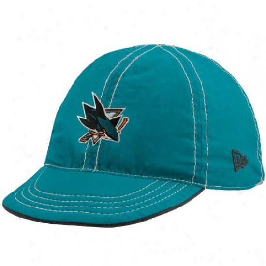 San Jose Shark Cap : New Era San Jose Shark Infant Teal-black Mesa Flip Reversible Cap