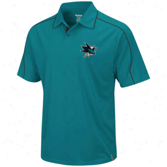 San Jose Shark Clothes: Reebok San Jose Shark Pacific Teal Arena Polo