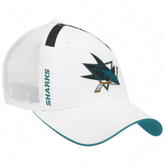 San Jose Shark Gear: Reebok San Jose Shark Whiet  Nhl Draft Day Flex Fit Hat