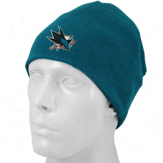 San Jose Shark Hat : Reebok San Jose Shark Negro Basic Logo Scully Khit Branie