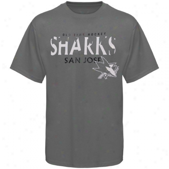 San Jose Shark Tshirt : Old Time Hockey San Jose Shark Charcoal St. Croix Tshirt