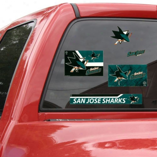 San Jose Sharks 11'' X 17'' Window Clings Sheet