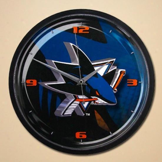 San Jose Sharks 12'' Wall Clock