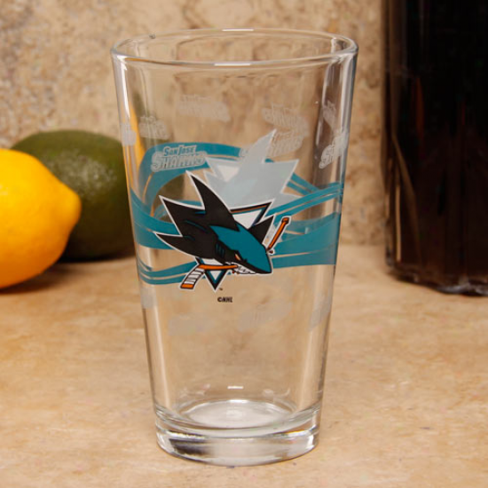 San Jose Sharks 16oz. Satin Ethc Pint Glass