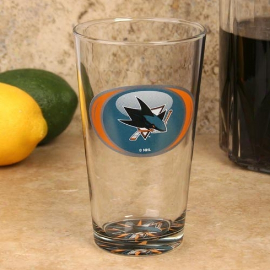 San Jose Sharks 17 Oz. Whirl Bottoms Up Mixing Glass