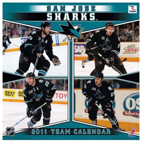 San Jose Sharks 2011 Wall Callendar
