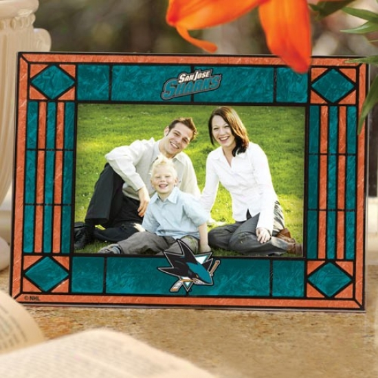 San Jose Sharks Art-glass Horizontal Picture Frame