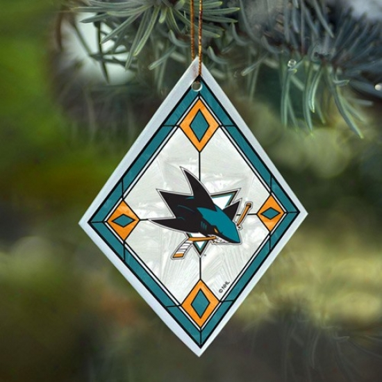 San Jose Sharks Art-glass Ornament