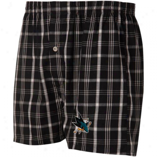 San Jose Sharks Murky Plaid Match-up Boxer