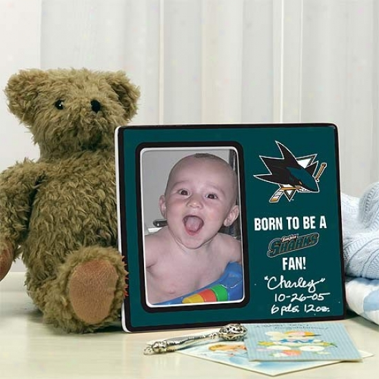 San Jose Sharks Born To Be Picture Frame