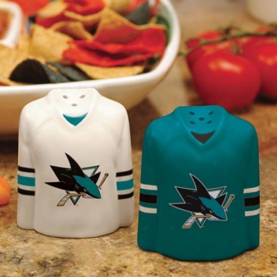 San Jose Sharks Gameday Ceramic Salt & Pepper Shakers