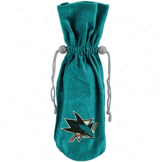 San Jose Sharks Green Velvet Wine Bottle Bag