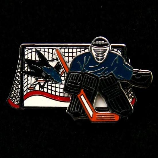 San Jose Sharks Hat : San Jose Sharks Moving Goalie Pin