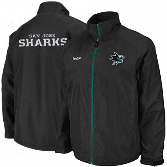 San Jose Sharks Jackets : Reebok San Jose Sharks Murky Center Ice Full Zip Jack3ts