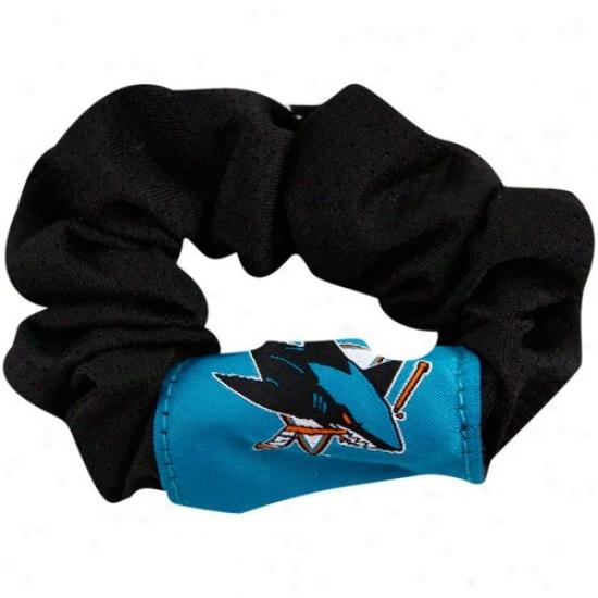 San Jose Sharks Ladies Black Hair Twist