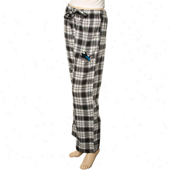 San Jose Sharks Ladies Black Plaid Harmony Pajama Pants