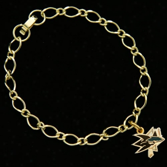 San Jose Sharks Ladies Gold-tone Chadm Bracelet