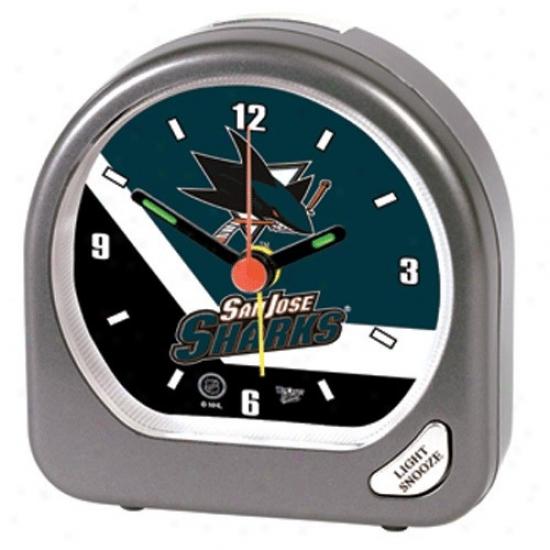 San Jose Sharks Plastic Alarm Clock