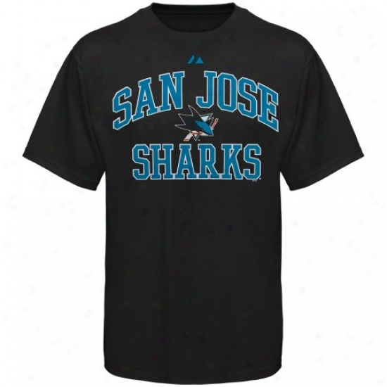 San Jose Sharks Shirt : Majestic San Jose Sharks Youth Black Heart & Soul Ii Shirt