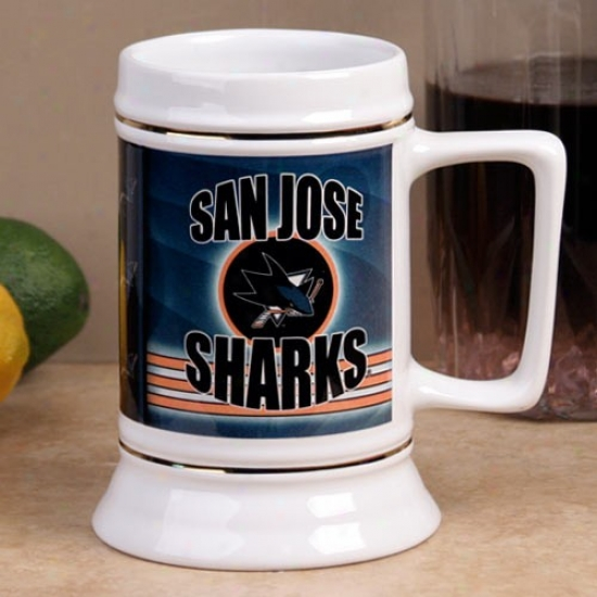 San Jose Sharks Slapshot 28oz. Ceramic Stein