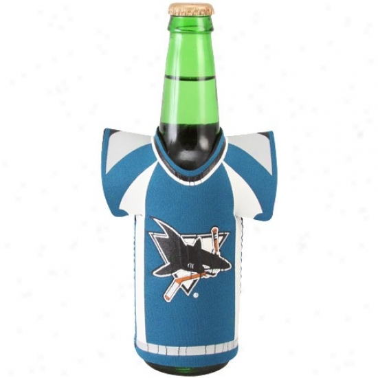 San Jose Sharks Teal Jersey Bottle Coolie