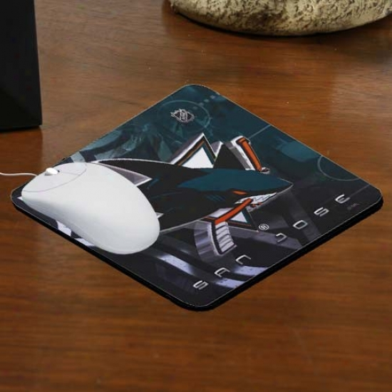 San Jose Sharks Team Logo Neoprene Mousepad