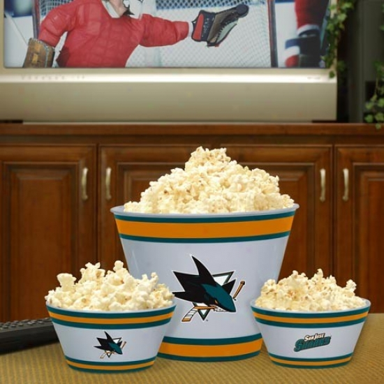 San Jose Sharks Three-piece Melamine Serving Set