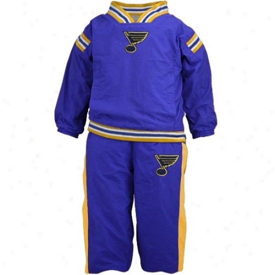 St Louis Blue Jacket : St Louis Blues Blue Toddler 2-piece Reversable Windsuit