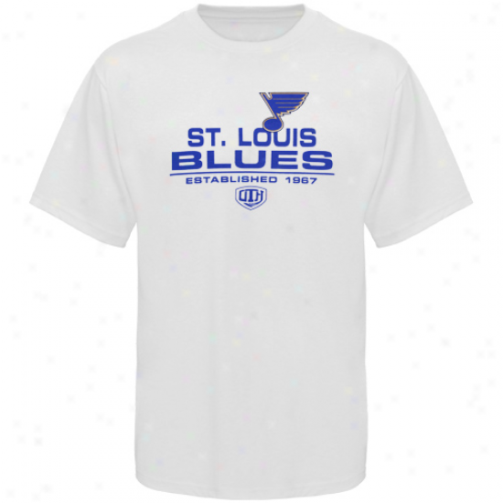 St. Louis Blue Tshirt : Old Time Hockey St. Louis Blue White Zeno Tshirt