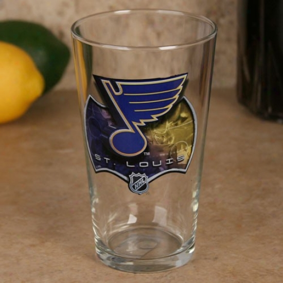 St. Louis Blues 17 Oz. Enhanced High Definition Mixing Glass