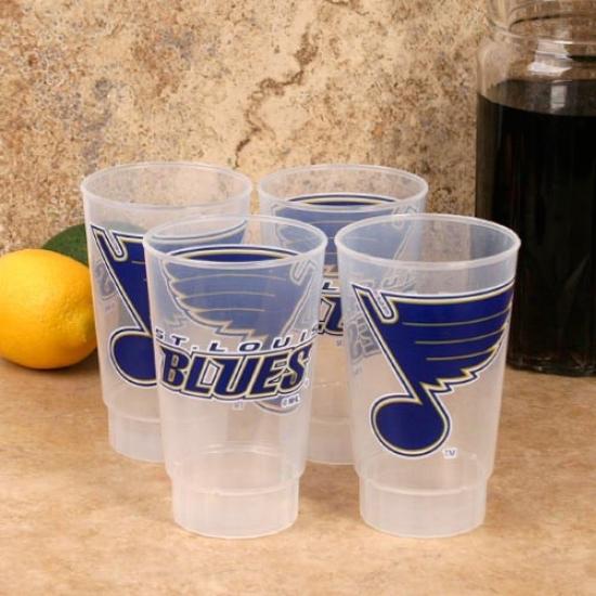 St. Louis Blues 4-pack 16oz. Plastic Cups