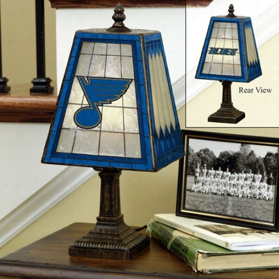 St Louis Blues Art-glass Table Lamp