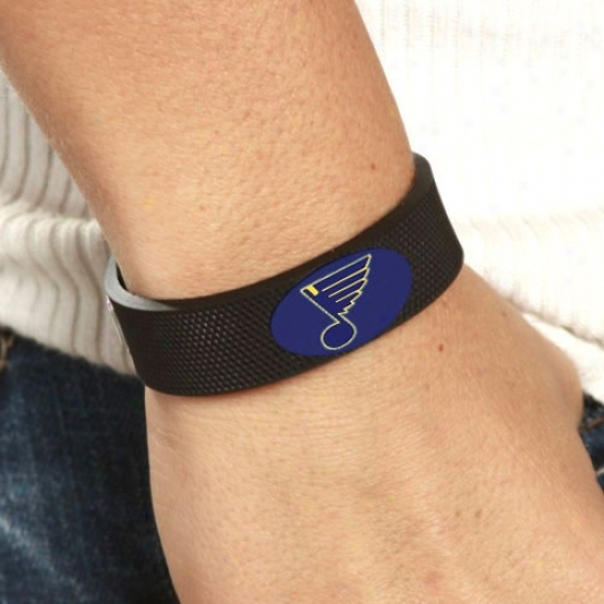 St Louis Blues Dark Hockey Bracelet