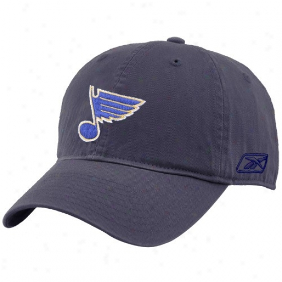 St Louis Blues Caps : Reebok St Louis Blues Navy Blue Unstructured Slouch Caps