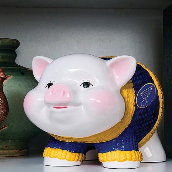 St Louis Blues Ceramic Piggy Bank