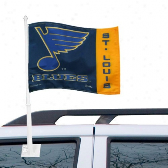 St. Louis Melancholy Flags : St Louis Blues Navy Blue Car Flags