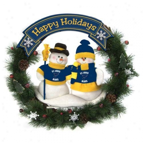 St Louis Melancholy Happy Holidays Wreath