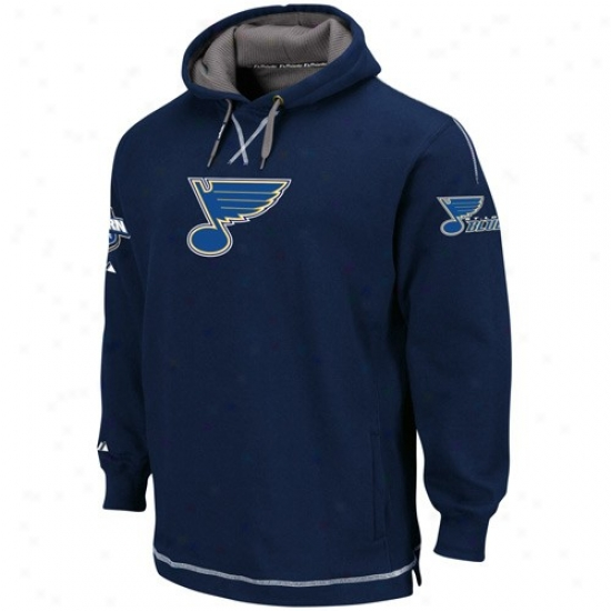 St. Louis Blues Hoodies : Majestic St. Louis Blues Navy Blue The Liberation Pullover Hoodies