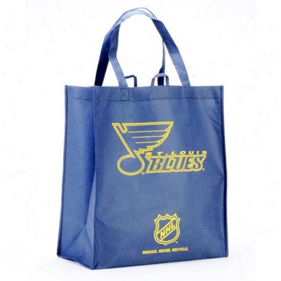 St. Louis Melancholy Navy Blue Reusable Tote Bag
