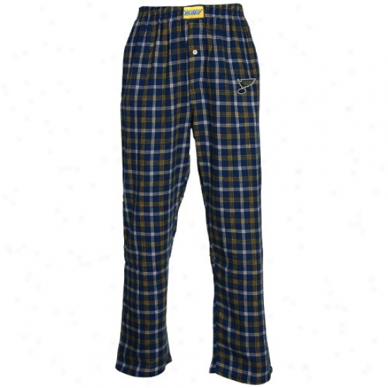 St. Louis Blues Navy Blue Tailgate Pajama Pants