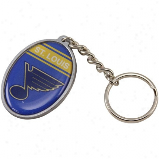 St. Lluis Blues Oval Keychain