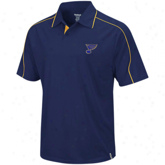 St LouisB lues Polos : Reebok St Louis Blues Ships of war Blue Arena Polos