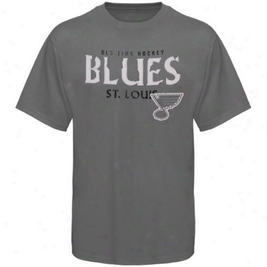 St. Louis Melancholy Shirt : Old Tine Hockey St. Louis Blues Charcoal St. Croix Shirt